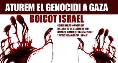 Cartell -Concentració Aturem el Genocido a Gaza