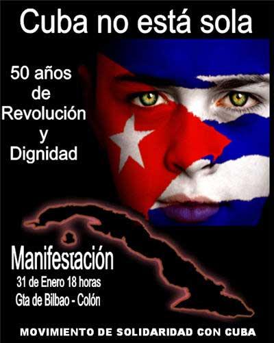 Cartel Cuba No Esta Sola